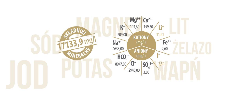 Składniki mineralne w wodzie Szczawa II